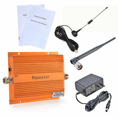 850MHz GSM 3G 4G Repeater Cell Phone Signal Booster + Antenna Kit New