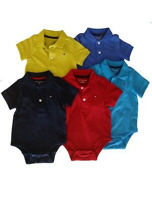 Authentic Tommy Hilfiger baby boys  body suit Polo shirt romper short sleeve