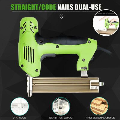Electric Straight/Code Nails Gun U Type Nail Double Use Staple Woodworking Tool
