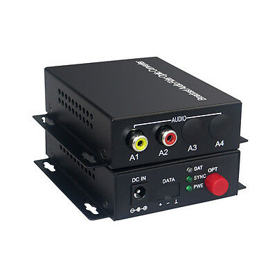 1 Audio Fiber optic Media Converter for Broadcast system(Tx/Rx) Kit Bidirection