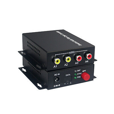 2 Audio Fiber optic Media Converters for Broadcast system(Tx/Rx) Kit Bidirection