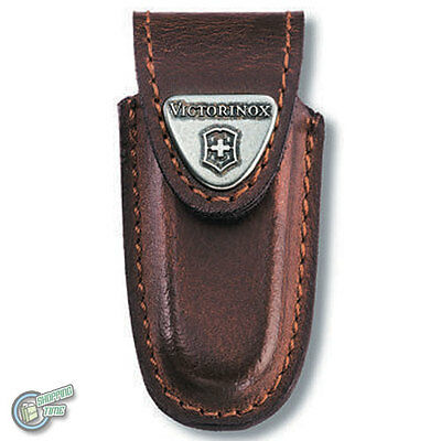 Victorinox Swiss Army Knife Brown Leather Belt Pouch For Classic Sheath 4.0531