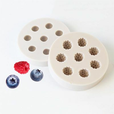 3D Blueberry Mulberry Cake Mold Silicone DIY Craft Kitchen Baking Mould