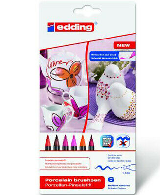 "Edding Porzellan-Pinselstift, 6er pack, ""Warm Colour"""