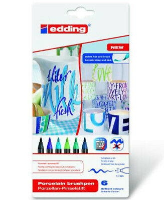 "Edding Porzellan-Pinselstift, 6er pack, ""Cool Colour"""