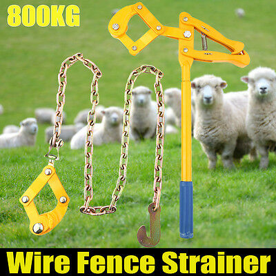 Heavy Duty Wire Fence Strainer Plain & Barbed Chain Fencing Repair Tool 1.2M UK