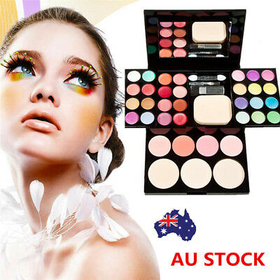 Makeup Palette Kit Eyeshadow Lip Gloss Foundation Blusher Powder Brush Cosmetics