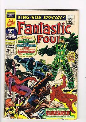 Fantastic Four Annual # 5  Inhumans Black Panther  grade 3.5 scarce book !!
