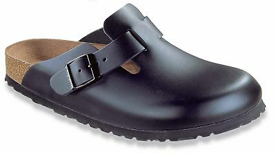 Birkenstock Boston Smooth Leather Unisex Shoes Clogs Slippers Slides