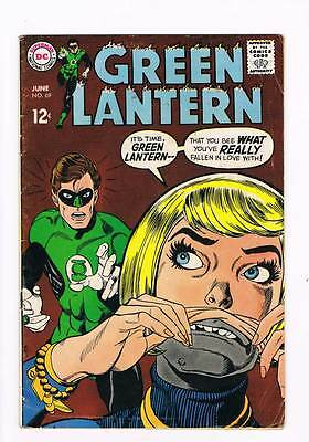 Green Lantern # 69 If Earth Fails The Test...It Means War ! grade 4.0 scarce !!
