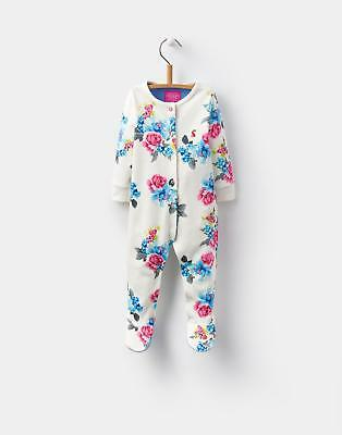 Joules 124437 Baby Girls Playsuit with Joules Prints in Cotton in Cream Floral