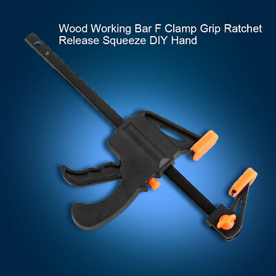 7.5Inch Wood Working Bar F Clamp Grip Ratchet Release Squeeze DIY Hand Gadget AF