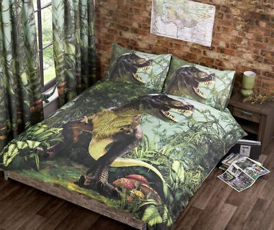 T Rex Quilt Duvet Cover Bed Sets Single Double Jurassic Dinosaur Bedding NEW