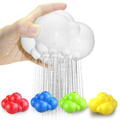 Rainbow Clouds shaped Bathroom Spray Type Baby Bath Play Toys Water Spraying Tap