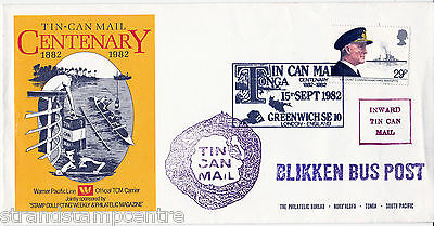1982 Maritime - 'Tin Can Mail' Centenary, Greenwich Commemorative Cover