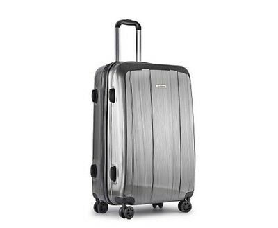 "NEW 28"" Lightweight Hard Shell Travel Luggage Case with TSA Approved Lock - Grey"