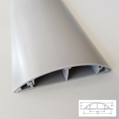 Grey Floor Cable Channel 1M Self Adhesive 120mm wide