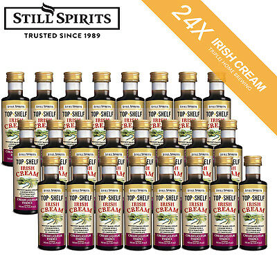 Free Shipping 24 x Still Spirits Top Shelf Irish Cream Liqueur 50ml Home Brew
