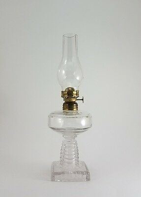 Antique Oil Lamp Clear Glass (Miniture) Beautiful!