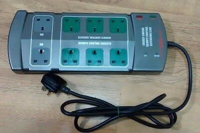 ENERGY SAVING REMOTE CONTROL POWER STRIP - SURGE PROTECTED - no remote control