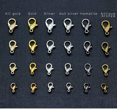 10/12/14/16mm alloy Lobster clasp Hook Jewelry craft for necklace&bracelet chain