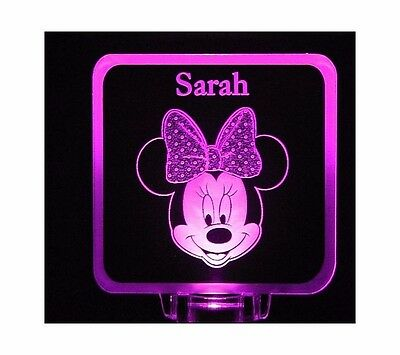 Minnie Mouse Night Light Personalized