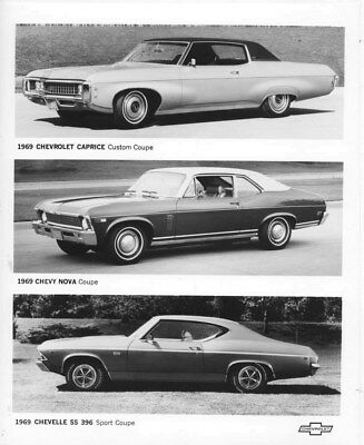 1969 Chevrolet Caprice, Nova, & Chevelle Coupes ORIGINAL Factory Photo oub6084