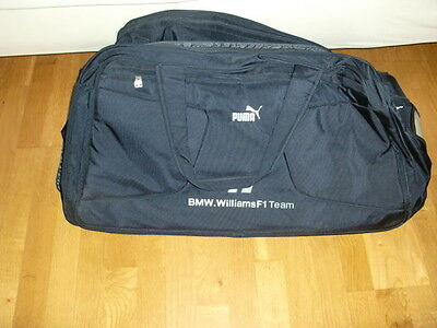 puma reisetasche tasche koffer blau gro mit rollen bmw williams f1 top eur 29 00. Black Bedroom Furniture Sets. Home Design Ideas