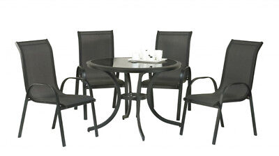 SupaGarden Stacking Chair Set 5 Piece