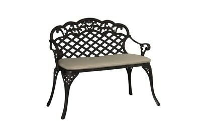 SupaGarden Cast Aluminium Bench With Cushion
