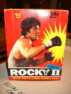 Rocky 2 Movie rare cards full 36 packs box 1978