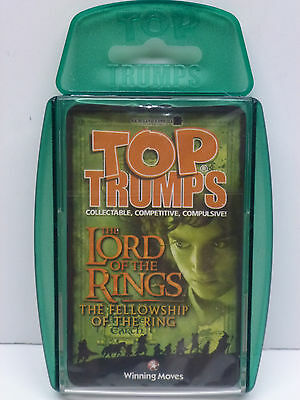 Lord of the Rings Fellowship Of The Ring Top Trumps Cards Sealed Set