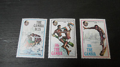 Gambia 1978 Sg 394-396 13Th Anniv Of Independence.  Mnh