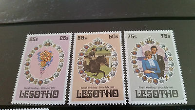 Lesotho 1981 Sg 451-453 Royal Wedding (1St Issue)  Mnh