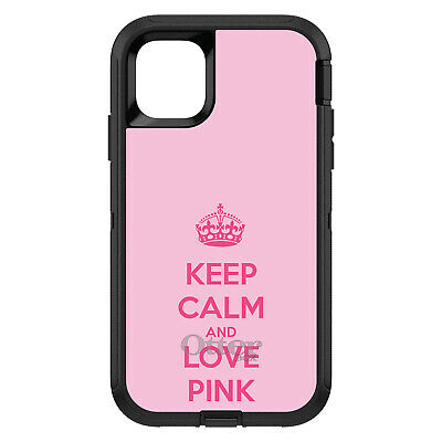 OtterBox Defender for iPhone 7 8 PLUS X XS Max XR Keep Calm and Love Pink