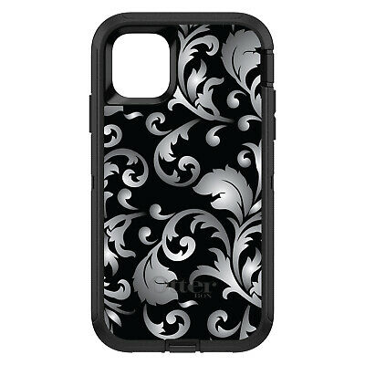 OtterBox Defender for iPhone 7 8 PLUS X XS Max XR Silver Black White Floral