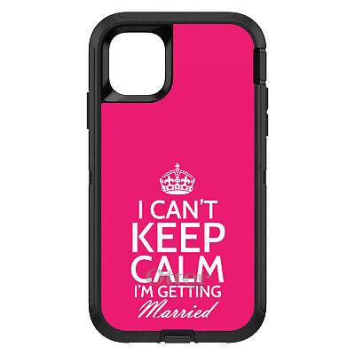 OtterBox Defender for iPhone 7 8 PLUS X XS Max XR Cant Keep Calm Getting Married