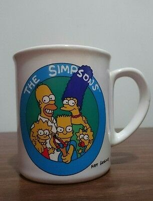 Collectable Vintage 1991 The Simpsons Ceramic Coffee Cup Mug Matt Groening