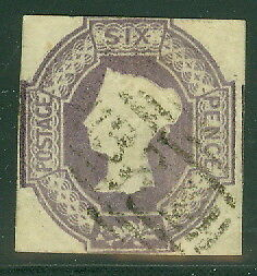 GREAT BRITAIN #7 6p violet, used, VF, SG $1,350.00, Scott $875.00