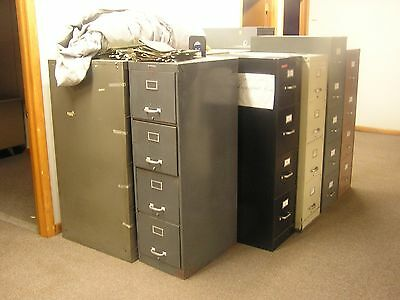 4-drawer vertical file cabinets, various manufacturers