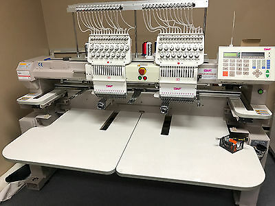 SWF/B-UK1502-45 Two Head Professional Embroidery Machine 15 Needles