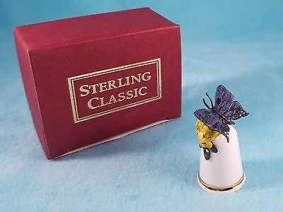 STERLING CLASSIC - Butterfly Collection #2 - Thimble BOX New RARE