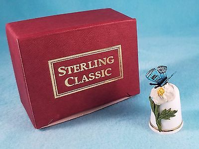 STERLING CLASSIC - Butterfly Collection #4 - Thimble BOX New RARE