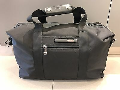 NEW Tumi Black Small Soft Travel Satchel Duffel Bag Carry On Luggage 223149