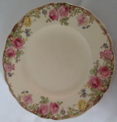 ♡ Free Post Royal Doulton English Rose D6071 Side Sandwich Salad Plate 16.2Cm