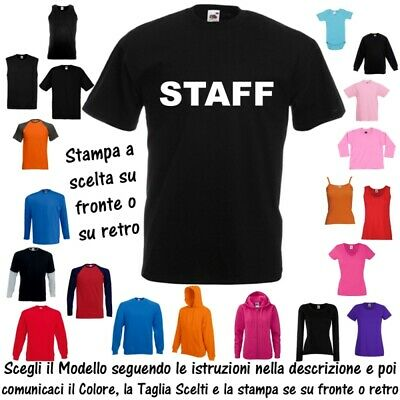 T-Shirt STAFF Sicurezza Responsabile Cotone Fruit of the Loom Russell BabyBugz