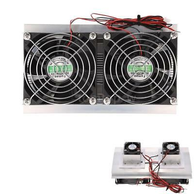Thermoelectric Peltier Refrigeration Cooling System Kit Double Cooler Fans 120W