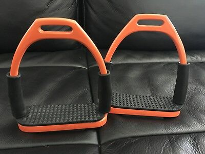 "Over-trot Orange Flexible Stirrups 4 1/2"" - DISCOUNTED FACTORY SECONDS"