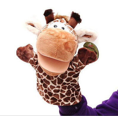 1pcs Giraffe Toys Holiday Animal Puppet Kids Love Hand Puppet LAUS