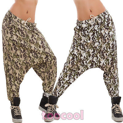 Women's trousers suit harem military mimetic camouflage turk new CJ-15269